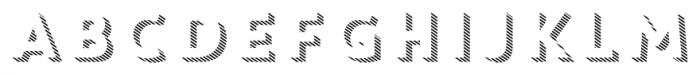 Core Circus 3D Line1 Font UPPERCASE