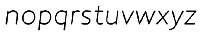 Core Humanist Sans Light Italic Font LOWERCASE