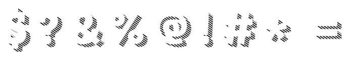 Core Magic 3D Line1 Font OTHER CHARS