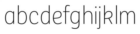 Corporative Sans Condensed Alt Thin Font LOWERCASE