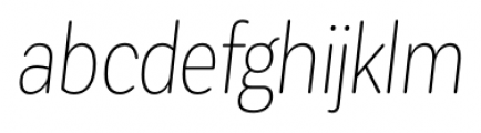 Corporative Sans Rounded Condensed Thin Italic Font LOWERCASE