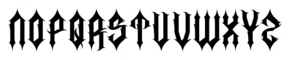 Corpse Black Regular Font LOWERCASE