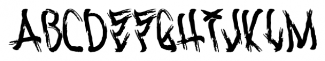 Corpse Smudge Light Font LOWERCASE