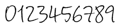 Corradine Handwriting Rough Font OTHER CHARS