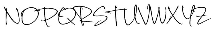 Corradine Handwriting Rough Font UPPERCASE