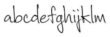 Corradine Handwriting Rough Font LOWERCASE