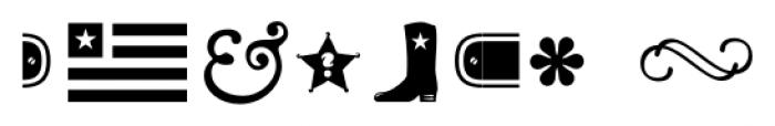 Cowboyslang Ornaments Ornaments Font OTHER CHARS