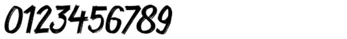 Coal Brush Italic Font OTHER CHARS