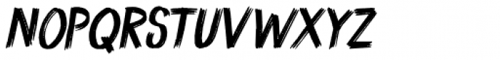 Coal Brush Italic Font UPPERCASE