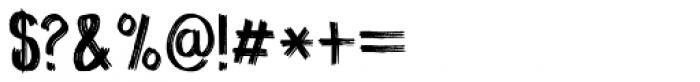 Coal Brush Regular Font OTHER CHARS
