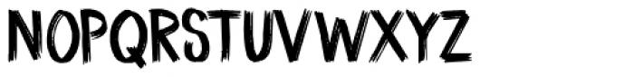 Coal Brush Regular Font UPPERCASE