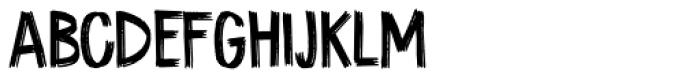 Coal Brush Regular Font LOWERCASE