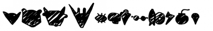 Coal Soul Extras Scratched Font LOWERCASE