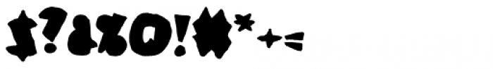 Coal Soul Filled Font OTHER CHARS