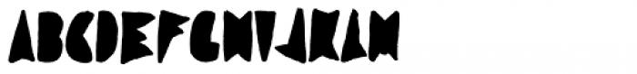 Coal Soul Filled Font UPPERCASE