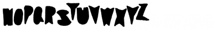 Coal Soul Filled Font LOWERCASE