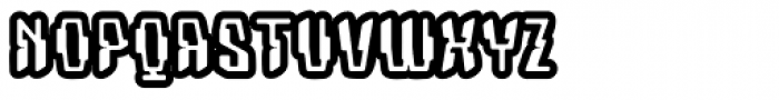 Coaxial Inlay Font UPPERCASE