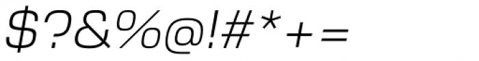 Cobe Light Italic Font OTHER CHARS
