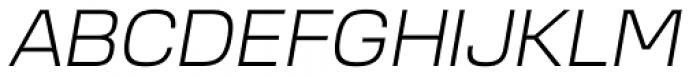 Cobe Light Italic Font UPPERCASE