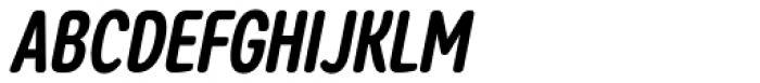 Coben Condensed Bold Italic Font UPPERCASE