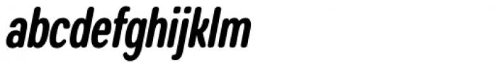 Coben Condensed Bold Italic Font LOWERCASE
