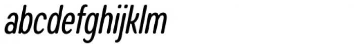 Coben Condensed Italic Font LOWERCASE