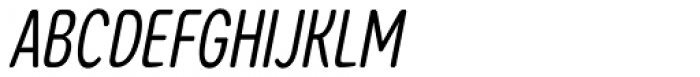 Coben Condensed Light Italic Font UPPERCASE
