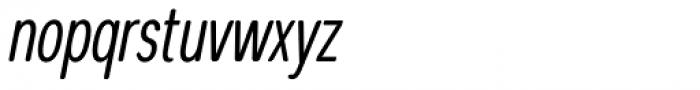 Coben Condensed Light Italic Font LOWERCASE