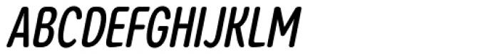 Coben Condensed Medium Italic Font UPPERCASE