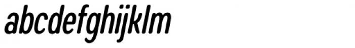 Coben Condensed Medium Italic Font LOWERCASE