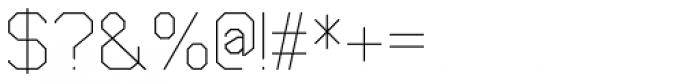 Cobol Light Font OTHER CHARS