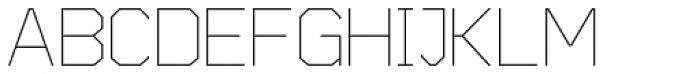 Cobol Light Font UPPERCASE