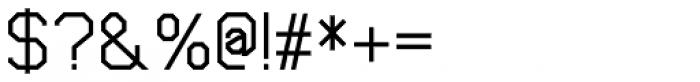 Cobol Medium Font OTHER CHARS