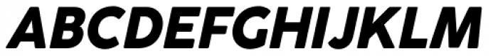 Cocogoose Classic Extra Bold Italic Font UPPERCASE