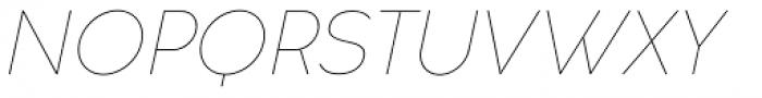 Cocogoose Classic Thin Italic Font UPPERCASE
