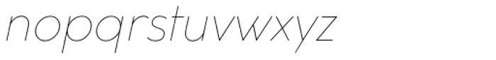 Cocogoose Classic Thin Italic Font LOWERCASE