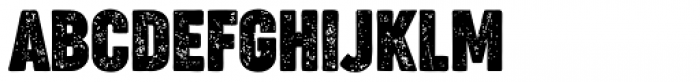 Cocogoose Compressed Letterpress Font UPPERCASE
