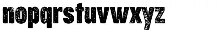 Cocogoose Compressed Letterpress Font LOWERCASE