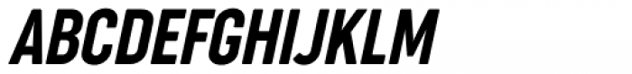 Cocogoose Compressed Semilight Italic Font UPPERCASE