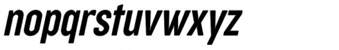 Cocogoose Compressed Semilight Italic Font LOWERCASE