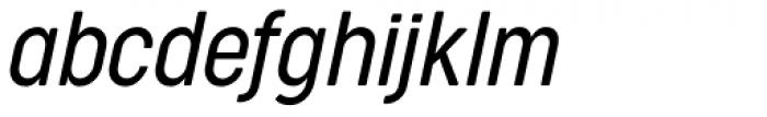 Cocogoose Condensed Light Italic Font LOWERCASE