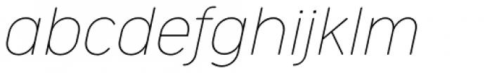 Cocogoose Narrow Thin Italic Font LOWERCASE