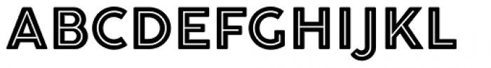 Cocogoose Pro Inline Font UPPERCASE