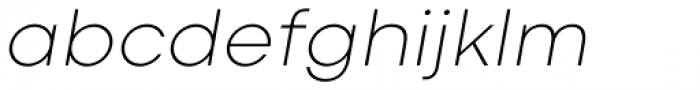 Codec Cold Extra Light Italic Font LOWERCASE