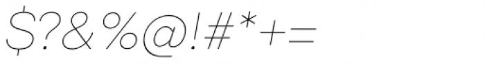 Codec Pro Thin Italic Font OTHER CHARS