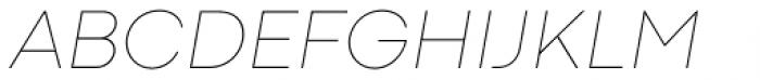 Codec Pro Thin Italic Font UPPERCASE