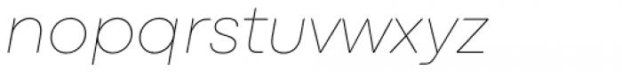 Codec Pro Thin Italic Font LOWERCASE