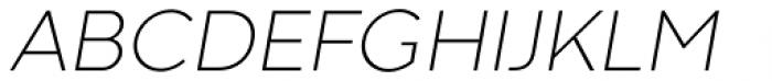 Codec Warm Extra Light Italic Font UPPERCASE