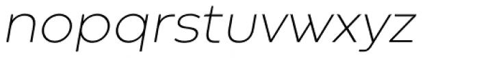 Codec Warm Extra Light Italic Font LOWERCASE