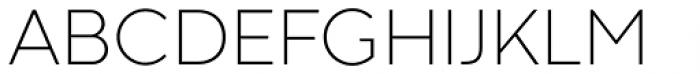 Codec Warm Extra Light Font UPPERCASE